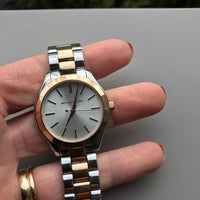 Michael Kors Slim Runway Two-tone Stainless Steel Ladies Watch MK3204