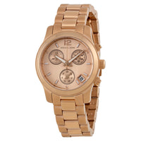 Michael Kors Runway Chronograph Rose Gold Tone Dial Ladies Watch MK5430
