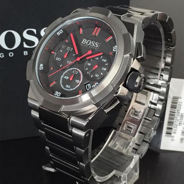 Hugo Boss Supernova Chronograph Grey Dial Men's Watch 1513361 Water resistance: 50 meters Movement: Quartz
