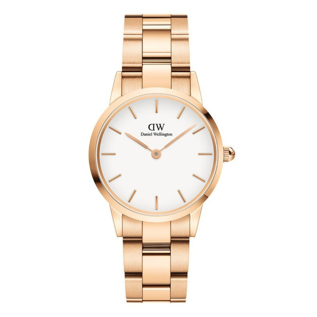 Daniel Wellington NZ White Iconic Link 32mm Ladies Gold Watch DW00100211