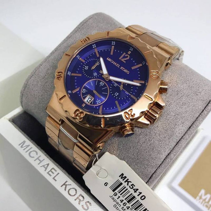 Michael Kors Bel Aire Chronograph Dial Rose Gold-plated Unisex Watch MK5410 Water resistance: 100 meters / 330 feet Movement: Quartz