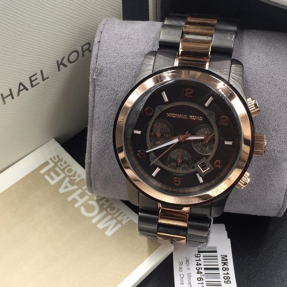 Michael Kors Runway Chronograph Two-tone Unisex Watch MK8189 Water resistance: 100 meters / 330 feet Movement: Quartz