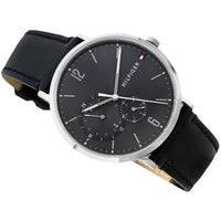 Tommy Hilfiger Black Dial Leather Strap Men's Watch 1791509