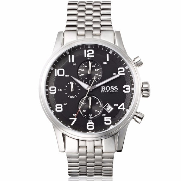 Hugo Boss Chronograph Black Dial Men's Watch 1512446 Water resistance: 50 meters / 165 feet Movement: Quartz