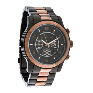 Michael Kors Runway Oversized Two Tone Chronograph Watch MK8266 Water resistance: 100 meters / 330 feet Movement: Quartz