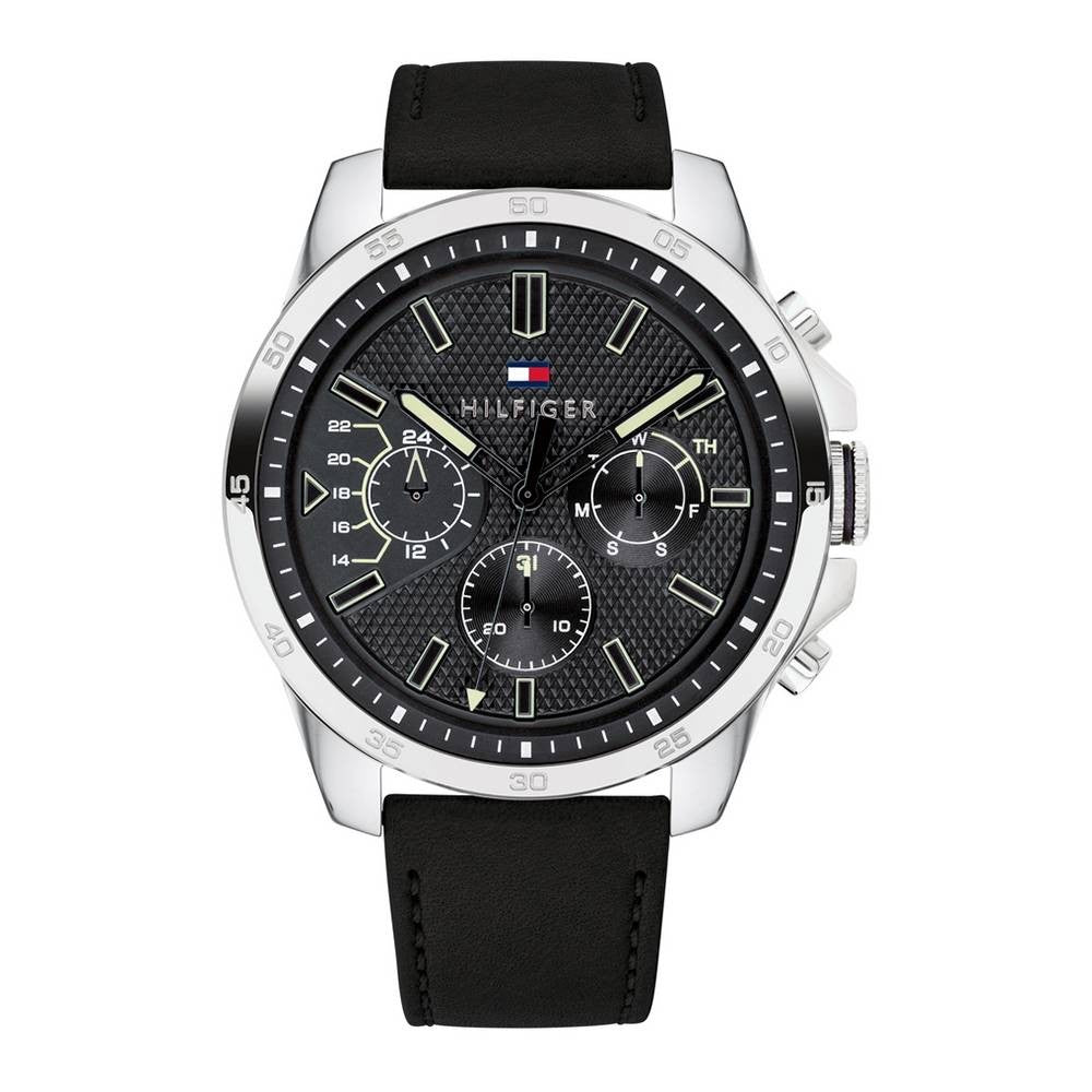 Tommy Hilfiger Decker Chronograph Black Dial Men's Watch 1791563