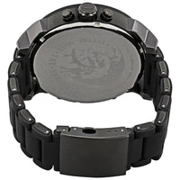 Diesel Big Daddy DZ7396 316L gunmetal stainless steel & black silicone link cover