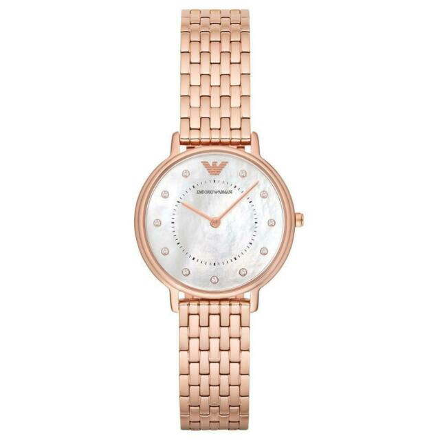 Emporio Armani Mother of Pearl Dial Rose Gold Ladies Watch AR11006