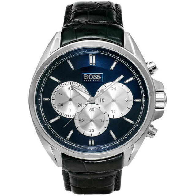 Hugo Boss Chronograph Blue Dial Men's Watch 1512882 Water resistance: 50 meters / 165 feet Movement: Quartz