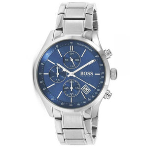Hugo Boss Grand Prix Chronograph Blue Dial Men's Watch 1513478 Water resistance: 30 meters  Movement: Quartz