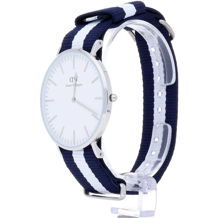 Daniel Wellington Classic Glasgow 40mm Men's Silver Watch DW00100018