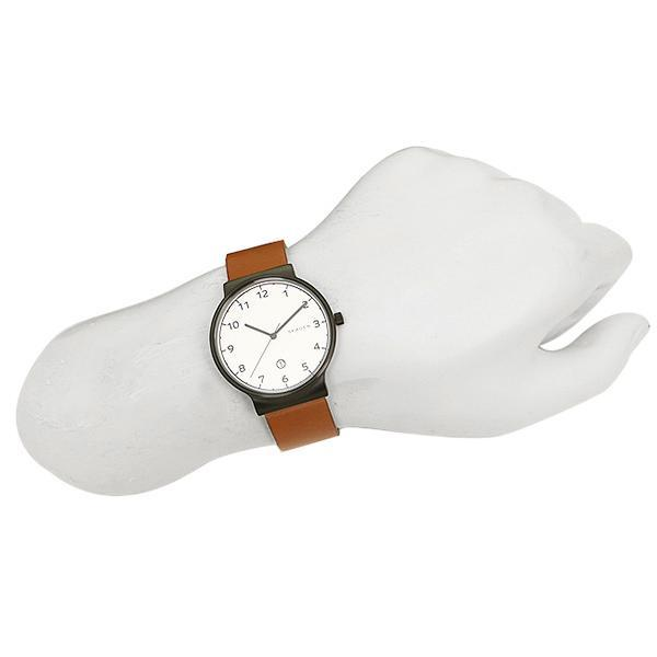 Skagen Ancher White Dial Leather Strap Men's Watch SKW6297