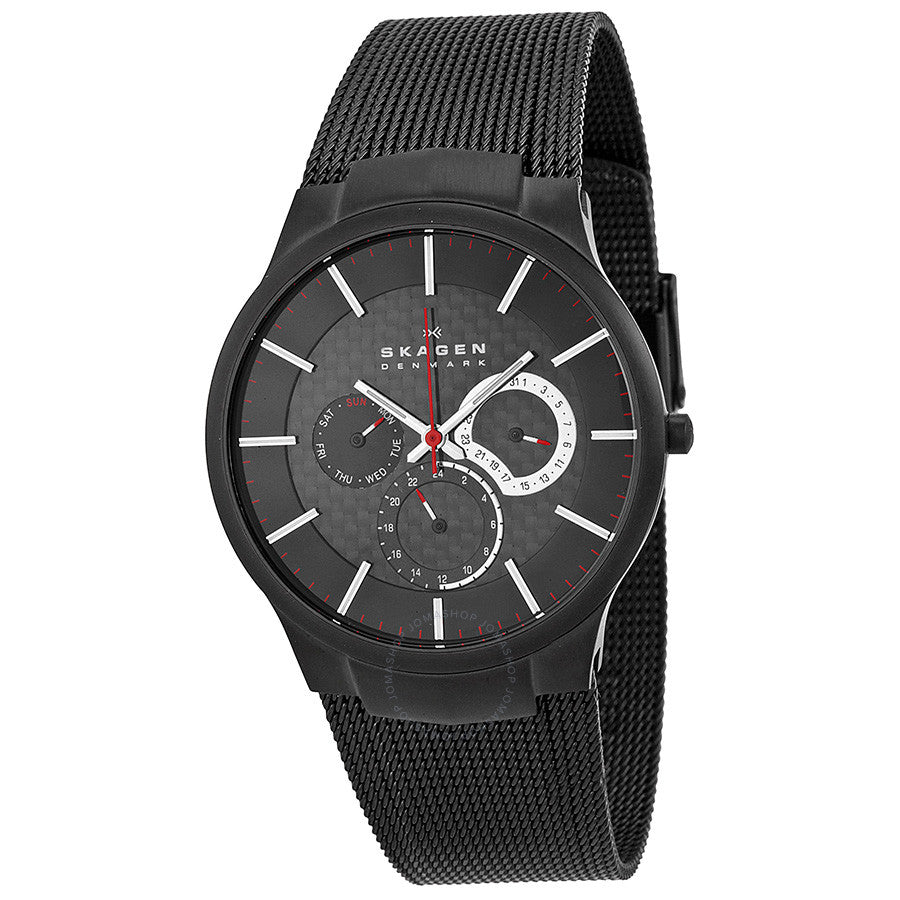 Skagen Black Titanium Multifunction Men's Watch 809XLTBB