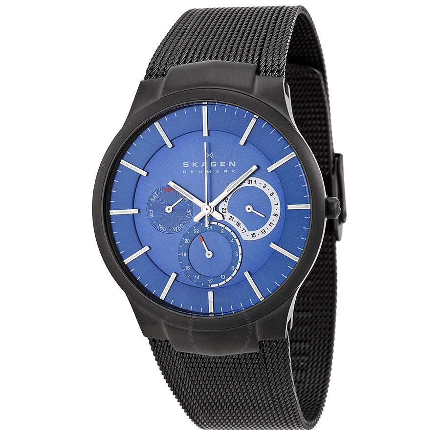 Skagen Chronograph Blue Dial Mesh Bracelet Men's Watch 809XLTBN