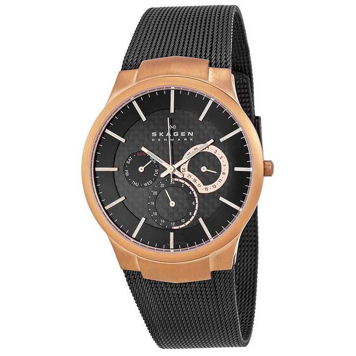 Skagen Rose Gold-plated Titanium Mesh Bracelet Men's Watch 809XLTRB