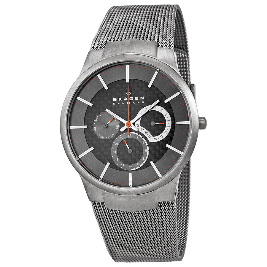 Skagen Grey Multifunction Dial Titanium Mesh Men's Watch 809XLTTM