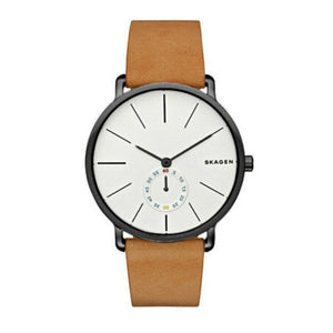Skagen Hagen Brown Leather Strap Men's Watch SKW6210