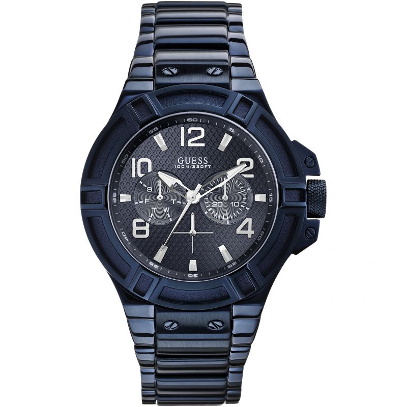 Guess Rigor Multi-Function Blue Stainless Steel Men's Watch W0041G2