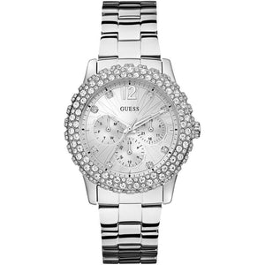 Guess Dazzler White Dial Stainless Steel Ladies Watch W0335L1