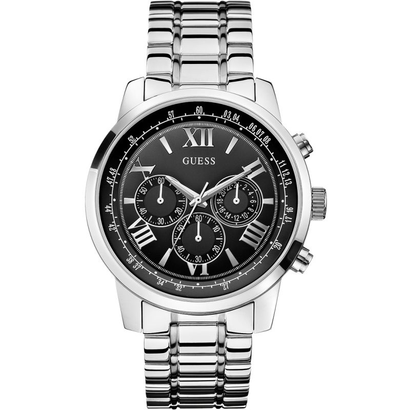Guess Horizon Chronograph Black Dial Men's Watch W0379G1