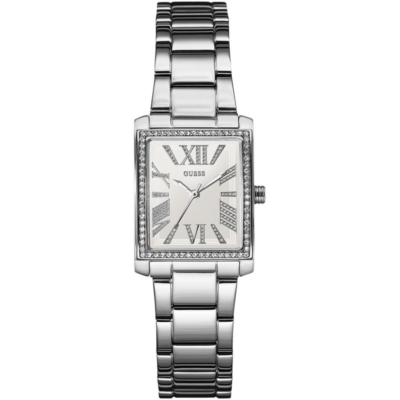 Guess Haven White Dial Silver-Tone Stainless Steel Ladies Watch W0446L1
