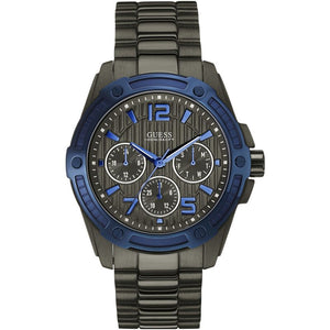 Guess Flagship Black Dial Stainless Steel Men's Watch W0601G1