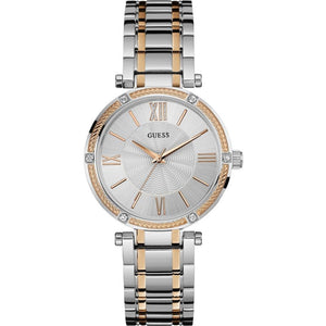 Guess Silver Dial Two-Tone Stainless Steel Ladies Watch W0636L1