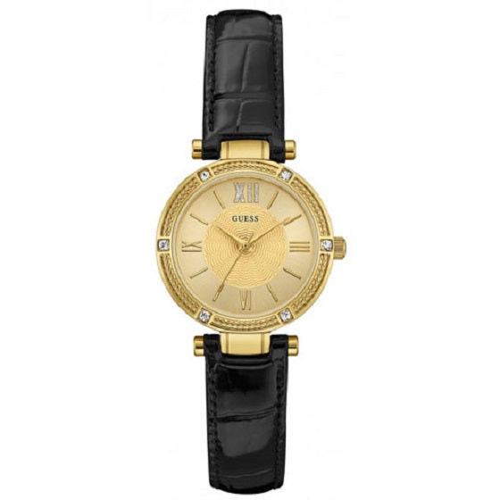 Guess Park Ave South Crystal Gold Dial Ladies Watch W0838L1