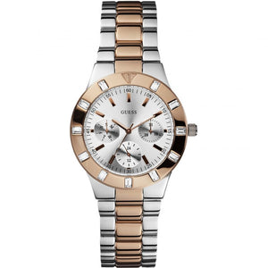 Guess Glisten Silver Dial Stainless Steel Ladies Watch W14551L1