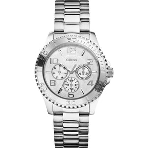 Guess Multi-Function Silver Dial Stainless Steel Ladies Watch W0231L1