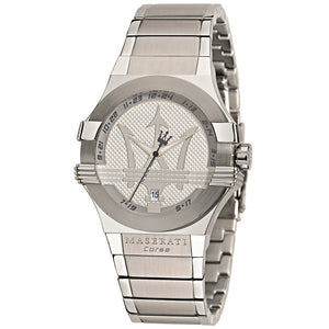 Maserati Potenza Silver Dial Stainless Steel Men's Watch R8853108002