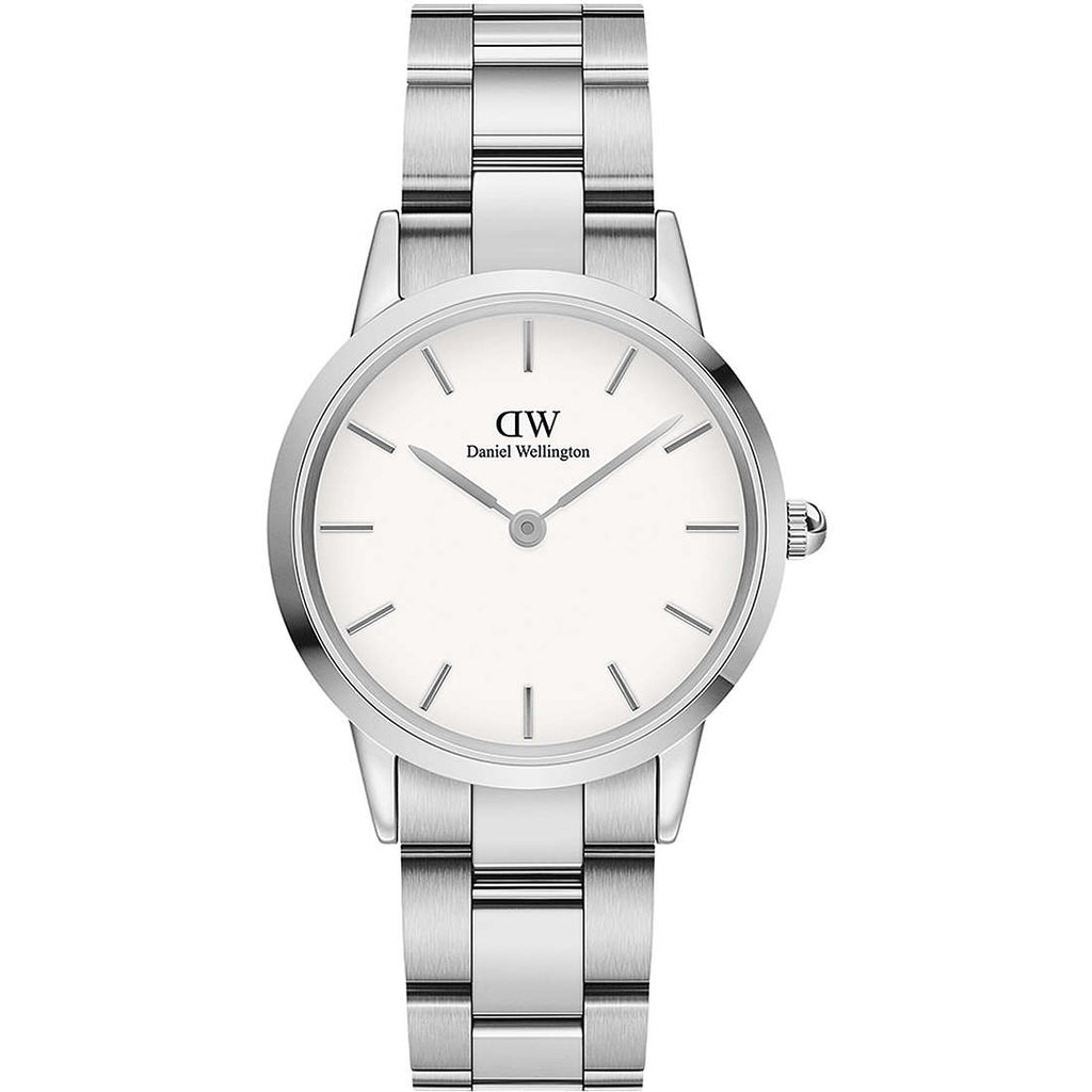 Daniel Wellington White Iconic Link 36mm Silver DW00100203