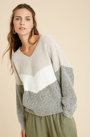 Chantal Chevron Sweater
