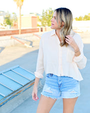 Georgia Peach Button Down