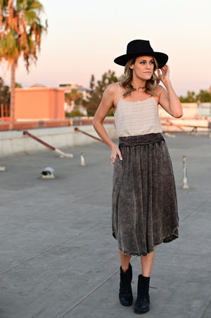 SHOP EVER ACID WASH SKIRT