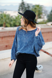 Shop Ever Classic Blue Sweater
