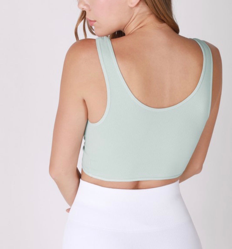 Twist Reversible Bralette - Aqua Mint
