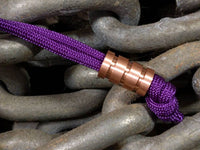 Medium Copper Lanyard Bead With Three Grooves and a Free Paracord Lanyard