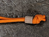 Rough Texture Natural Micarta Lanyard  and a Free Paracord Lanyard