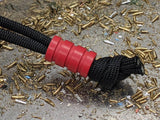Medium Red G10 Lanyard Bead With Three Grooves and a Free Paracord Lanyard