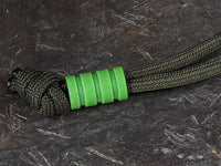 Medium Acid Green G10 Lanyard Bead With Three Grooves and a Free Paracord Lanyard