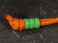 Medium Acid Green G10 Lanyard Bead With Two Grooves and a Free Paracord Lanyard