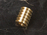 Large Brass Lanyard Bead With 5 Grooves and a Free Paracord Lanyard