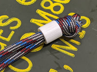 Simple Small White G10 Lanyard Bead with Free Paracord Lanyard