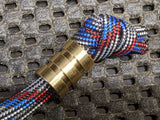 Medium Brass Lanyard Bead With Two Grooves and a Free Paracord Lanyard