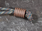 Large Natural Micarta Lanyard Bead With 5 Grooves and a Free Paracord Lanyard