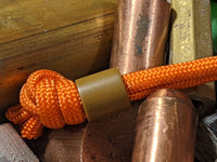 Simple Small Coyote Tan G10 Lanyard Bead with Free Paracord Lanyard