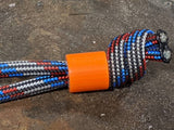 Simple Small Blaze Orange G10 Lanyard Bead with Free Paracord Lanyard