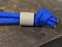 Simple Small Desert Tan G10 Lanyard Bead with Free Paracord Lanyard