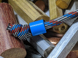 Simple Small Blue G10 Lanyard Bead with Free Paracord Lanyard